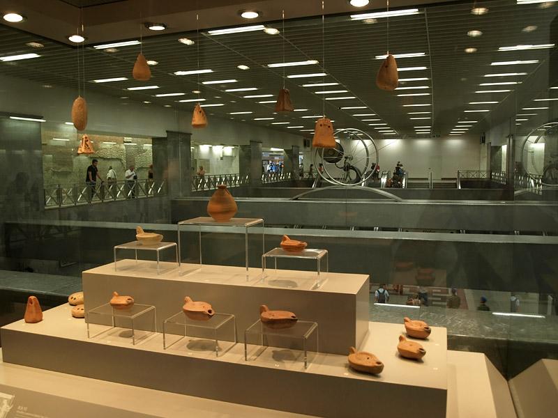 Станция-музей в афинском метро