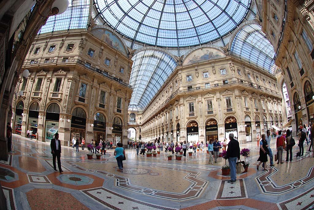 Милан - торговый центр - круто