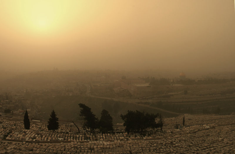 Песчаная буря в Иерусалиме