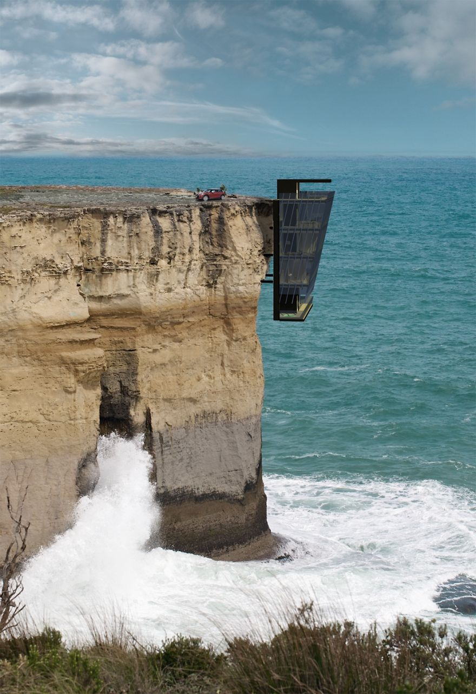 дом висящий на скале - 1