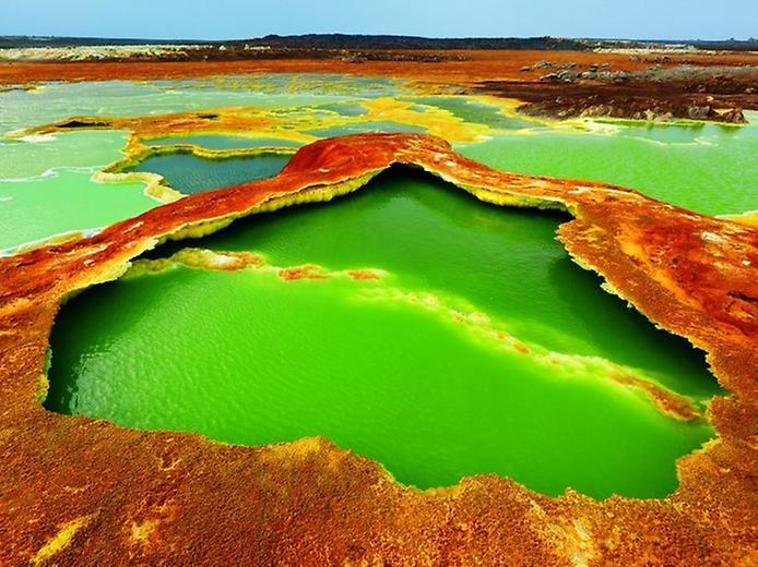 вулкан даллол - озеро