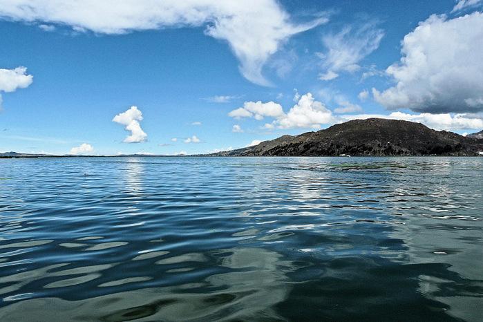 озеро поопо с водой