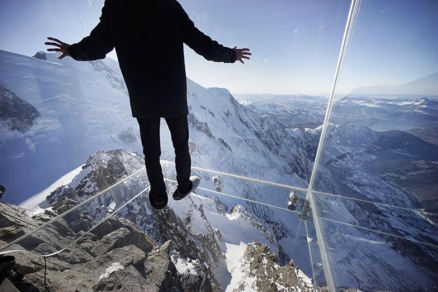 """Смотровая площадка """"Шаг в пустоту"""", французские Альпы"""