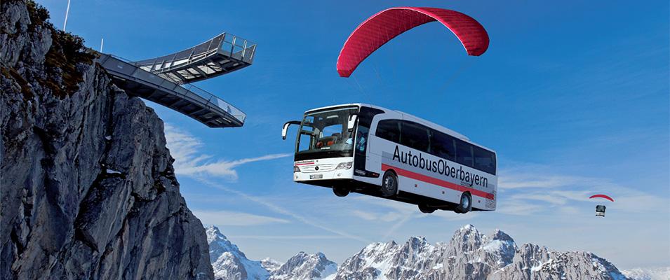 летящий автобус