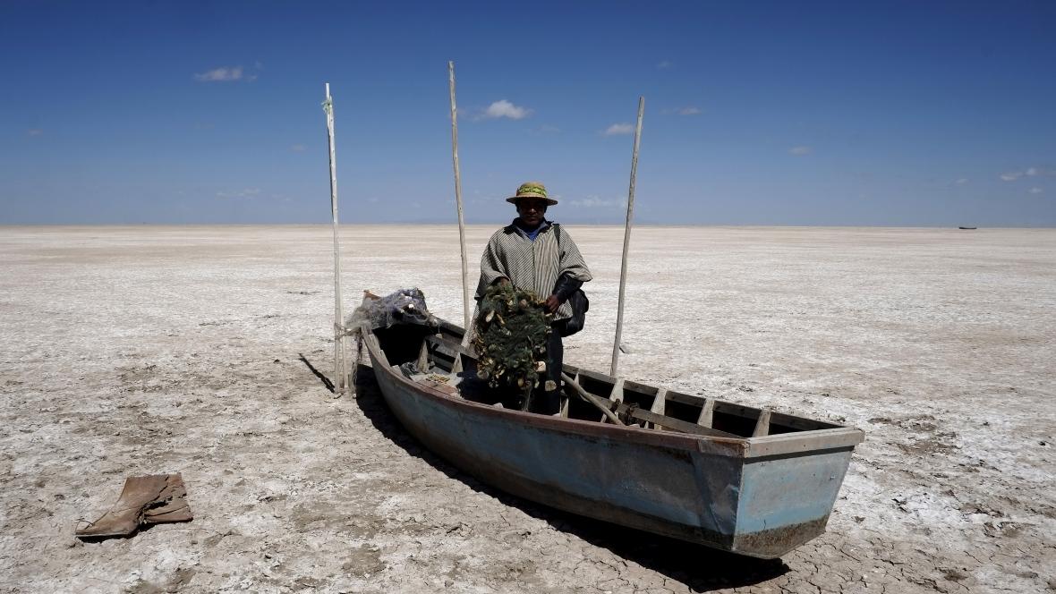 озеро поопо - высохло