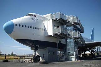 самолет-отель в швеции