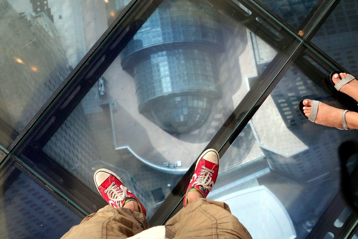 башня - стеклянный пол