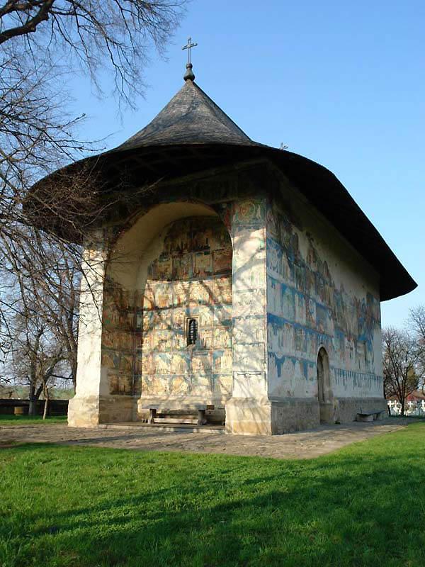храм - Расписная церковь в Арборе - Молдова