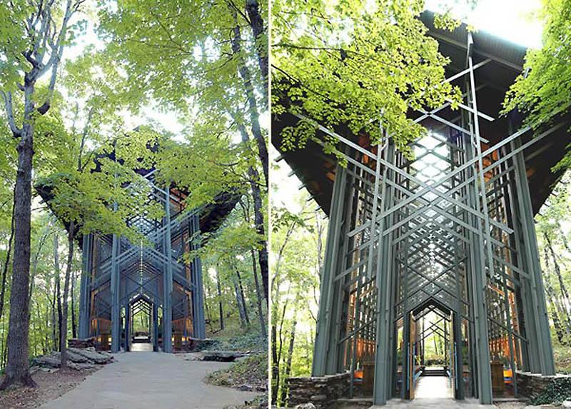 храм - Часовня тернового венца - Арканзас